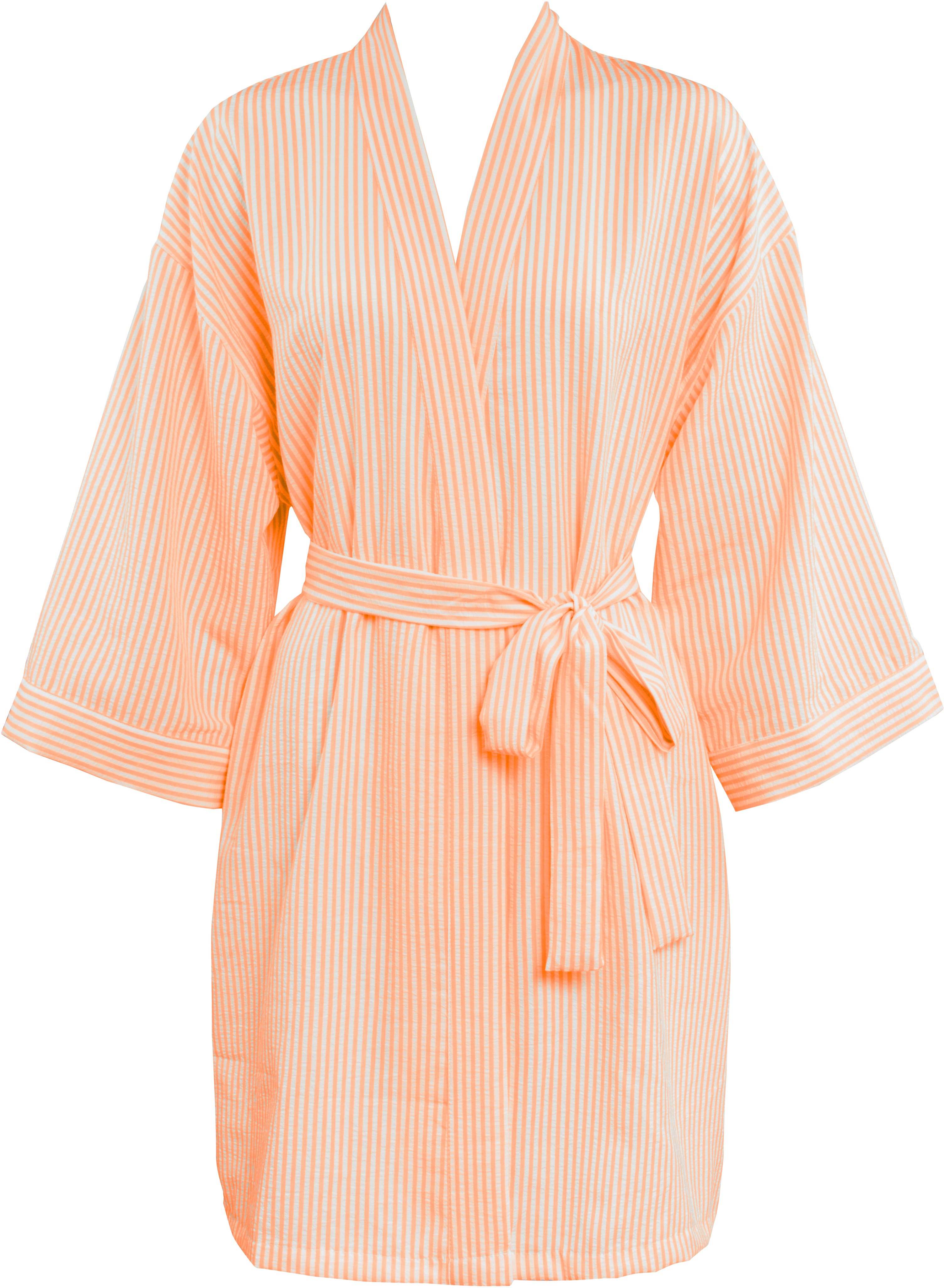 browse latest collections full range of specifications outlet store Leisureland Women's Stripe Seersucker Plisse Robe Orange ...