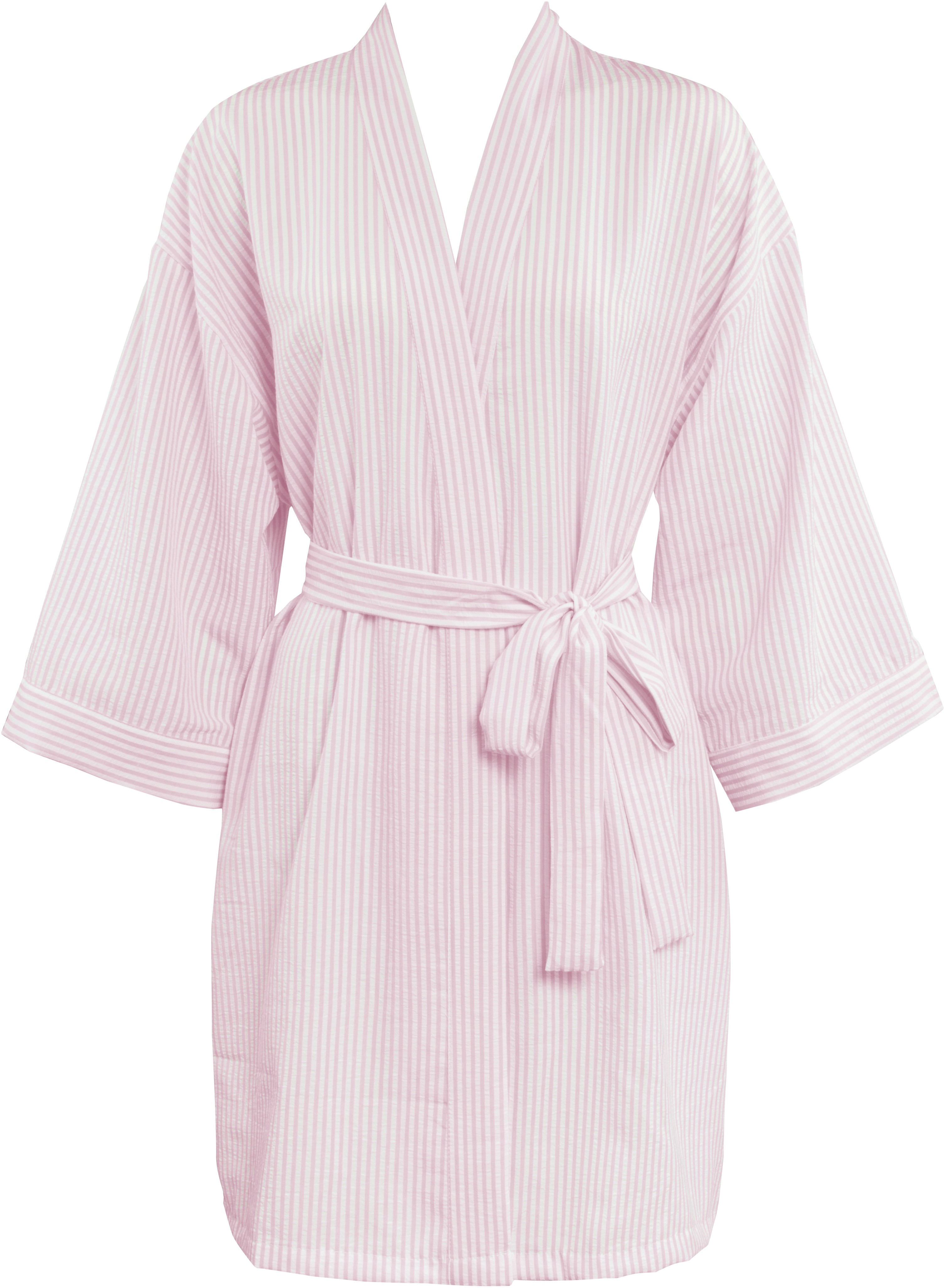 new styles enjoy lowest price soft and light Leisureland Women's Stripe Seersucker Plisse Robe Pink ...