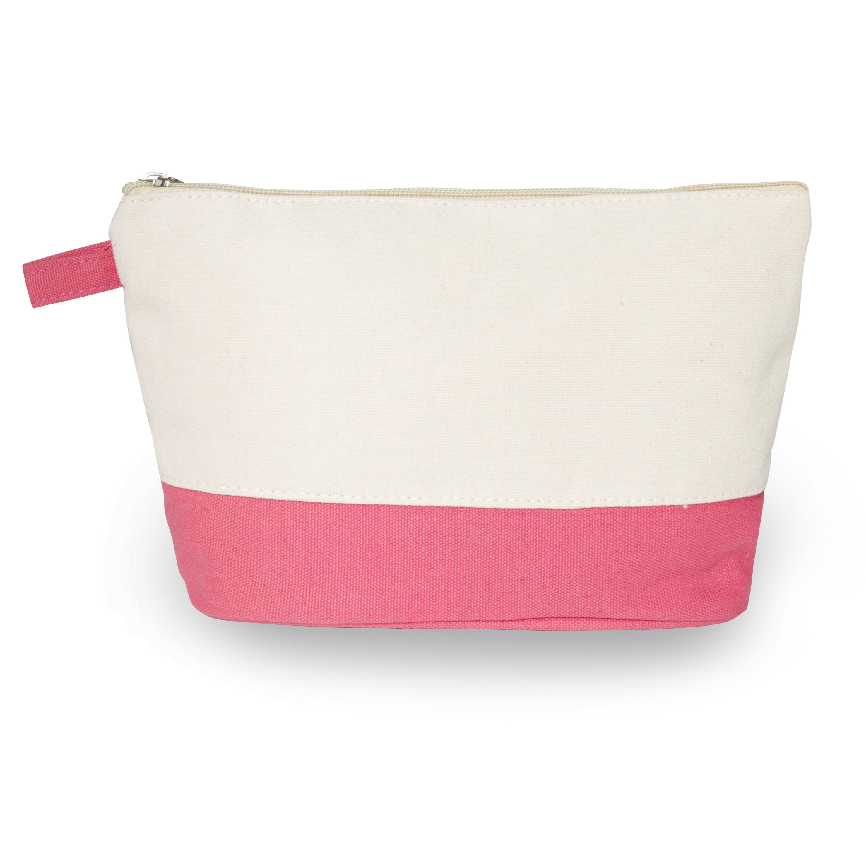 Cotton Canvas Cosmetic Clutch Bag