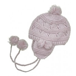 602a9ad1701 Handmade Crochet Beanie Hat Light Pink