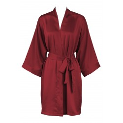 Leisureland Women s Matte Satin Kimono Robe Burgundy L XL 287200456
