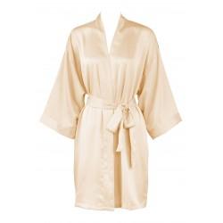Leisureland Women s Matte Satin Kimono Robe Champagne ... 2a48522c6